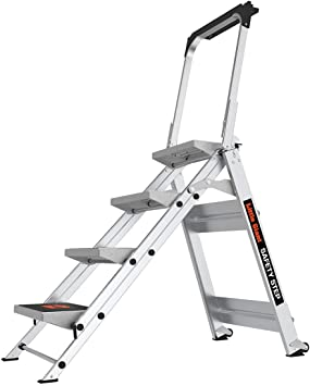 Little Giant Ladder Systems 10410BA Safety Step Ladder Four Step with Bar, 2 x 11-Inch by Little Giant Ladder Systems: Amazon.es: Bricolaje y herramientas