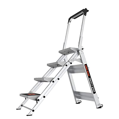 Little Giant Ladder Systems 10410BA Safety Step Ladder Four Step