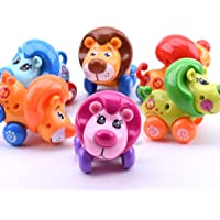 Shopjamke Lion Toys Wind-up with Winding Chain and Moving Wheels Feature for Toddlers (Lion)