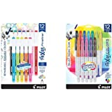 PILOT FriXion Fineliner Erasable Marker Pens, Fine Point, Assorted Color Inks, 12-Pack (11452) & FriXion Colors Erasable…