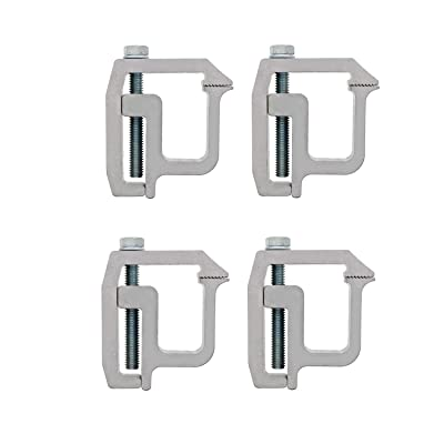 ABN Truck Topper Clamps - 4 Pack Truck Cap Mounting Clamps for Truck Bed Rack and Truck Canopy Brackets: Automotive