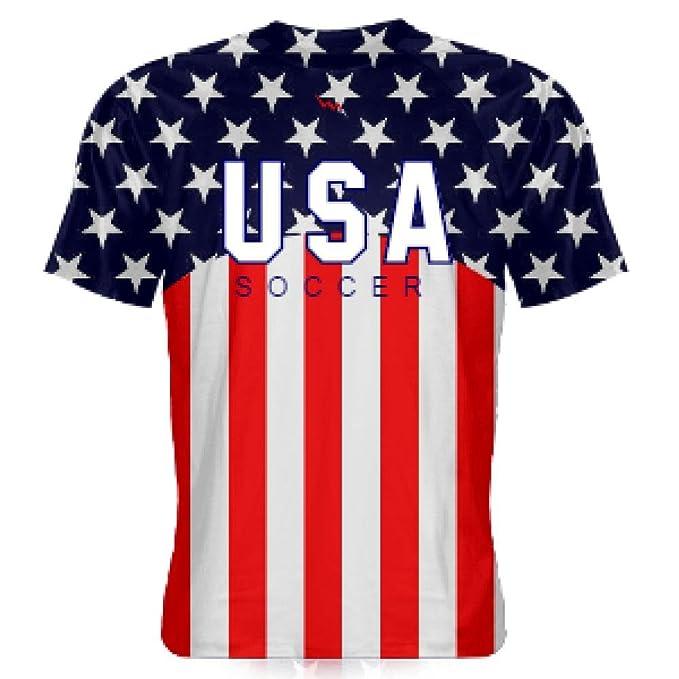 08689a67f LightningWear Youth USA Soccer Jersey - USA Soccer Shirts - American Flag  Shirts - America Soccer