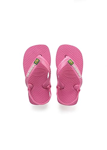 956dd6a894b56e ... Sandals BZMPIP new  Havaianas Baby Brasil Logo II Shocking Pink Rubber  19 BR 5 M US Infant promo code ...