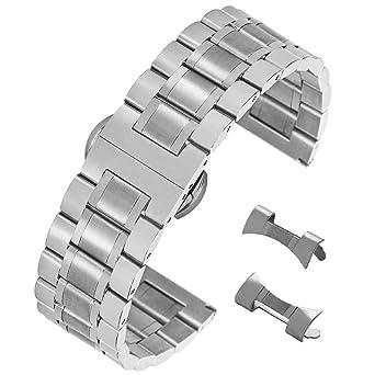 Superbe Courbe Acier De Droite Bracelet Avec Inoxydable Remplacement Et En Brossé Extrémité tCrdoshQxB