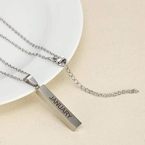 TtKjt Llavero Rectangular Letras Collar-january5 * 30mm ...
