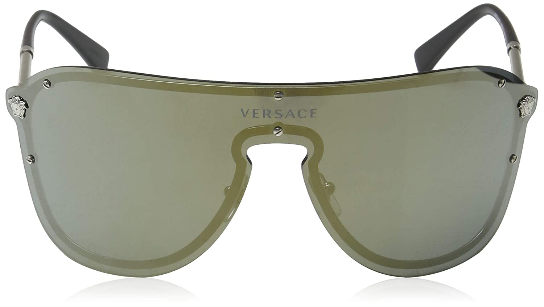 Versace Womens Mirrored Shield Sunglasses