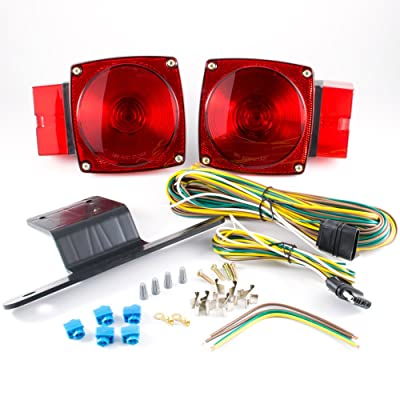 "Lumitronics RV Submersible Over 80"" Universal Mount Combination Trailer Tail Lights Kit: Automotive"