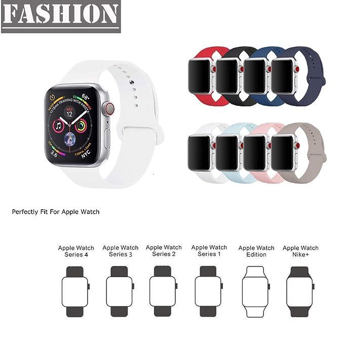 Amazon.com: Moteev - Correa de silicona para Apple Watch ...
