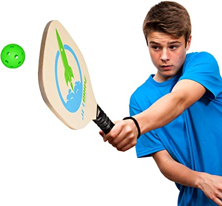 jetgripz Pickleball paleta – Juego de 4 bola BUNDLE + 2 palas de madera + Ebook | niños para interiores o exteriores para hombre Pickleball palas | cumple usapa especificaciones – profesional