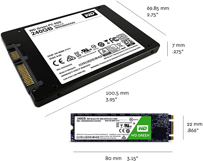 WD Green M.2, disco de estado sólido (SSD) interno de 120 GB ...
