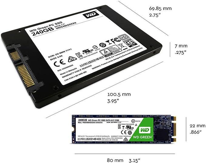 WD Green M.2, disco de estado sólido (SSD) interno de 120 GB ...
