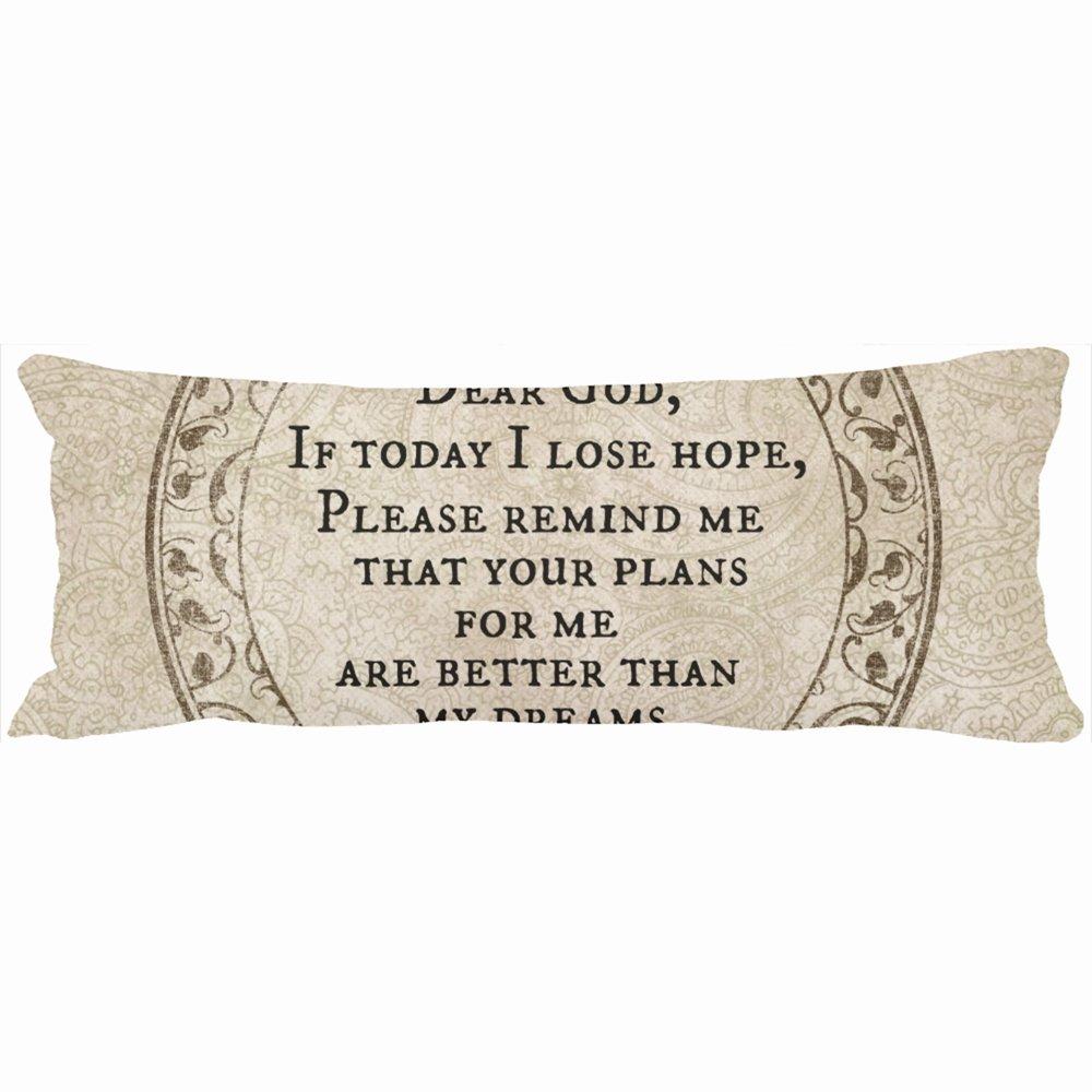 Cuerpo almohadas decorativo diseño de frases de inspiración ...