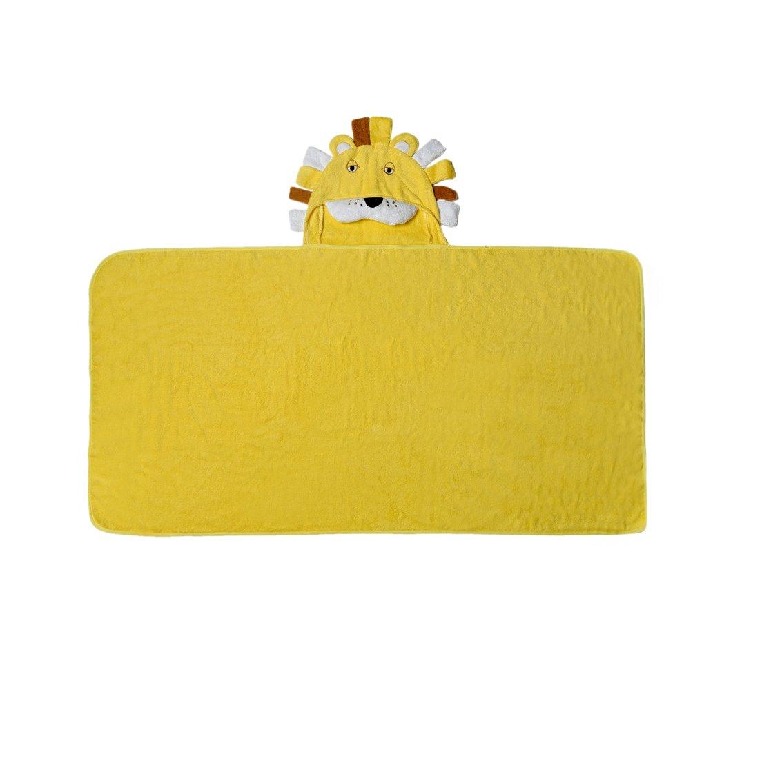 LoveKids Boys or Girls Hooded Bath Towel 100% Cotton use for Bath, Beach, Pool(Lion-L)