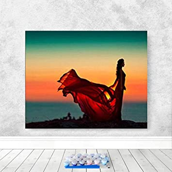 Whoops-Bricolaje Pintura Al Óleo Moderna Pintura Digital Lienzo De ...