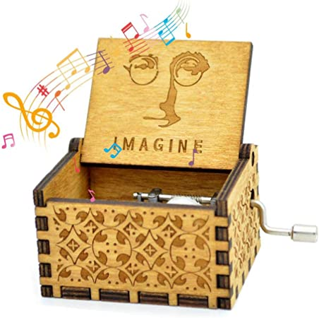 Womdee Music Box Imagine Theme, Manual De Caja De Música Clásica De Madera con Manivela, Mecanismo De 18 Notas Caja De Música Antigua Tallada.: Amazon.es: Hogar