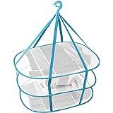 物干しネット, 洗濯物干しネット 平干しネット 3段 折りたたみ式 コンパクト 虫除けネット 吊り下げ式 食器乾燥 SPH-066 (3段)