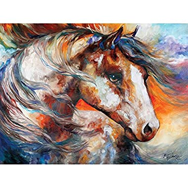 Westland Giftware Canvas Wall Art, Painted Wind Equine, 12 by 16