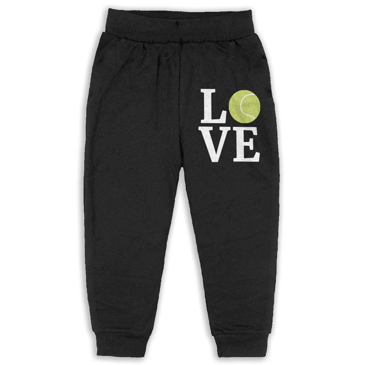 Kids /& Toddler Pants Soft Cozy Baby Sweatpants Love Tennis Ball Fleece Pants Sports Pants