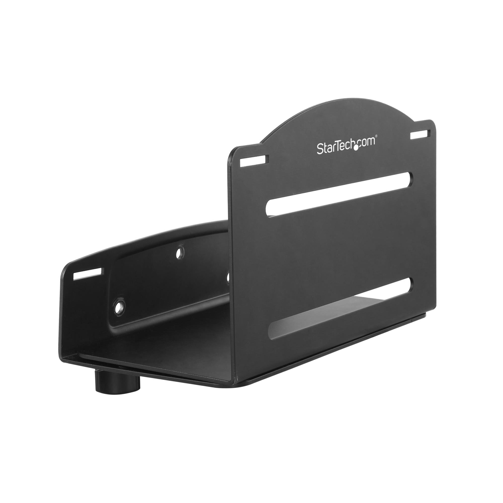 StarTech.com CPU Mount -æAdjustable Width 4.8in to 8.3in - Metal - Computer Wall Mount - PC Wall Mount - Computer Mounting Bracket