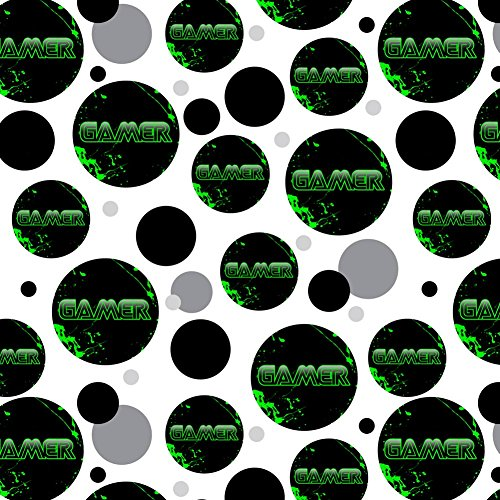 (Premium Gift Wrap Wrapping Paper Roll Pattern - Sports and Hobbies - Gamer Paint Splatter Gaming)