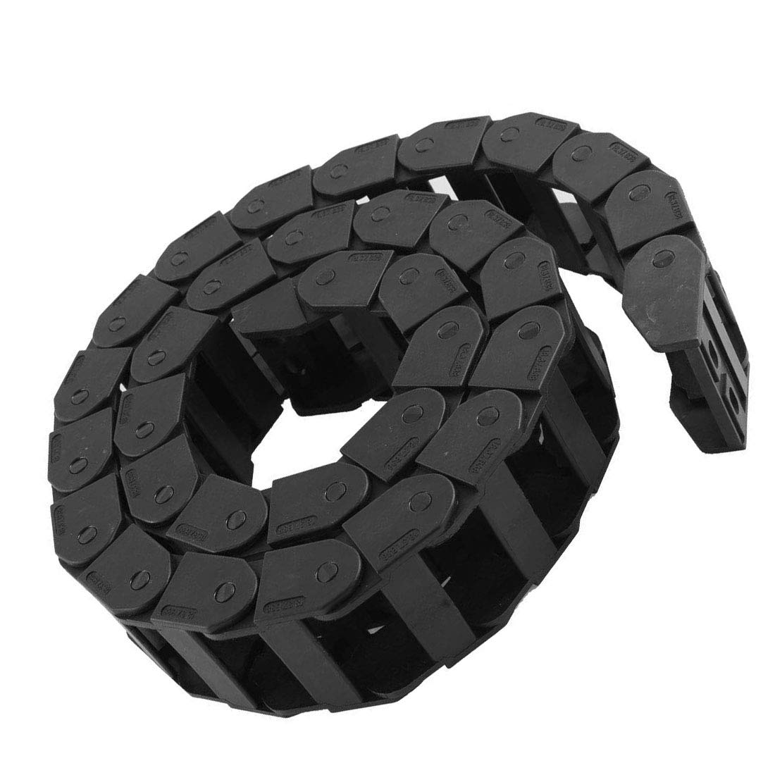 Aodesy 1M//3.3 Ft Plastic Cable Wire Carrier Drag Chain R38 18mm x 37mm Flexible Nested Semi Closed Drag Chain for CNC Router Shenzhenshiaodesiwujinjidianyouxiangongsi 5559007215
