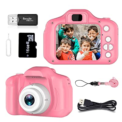Toys for 3-6 Year Old Girls Pussan Kids Camera HD 1080P Digital Camera for Kids Video Recorder Small Cameras Silicone Soft Cover Camcorder Christmas Birthday Gifts for Children Party Outdoor Play: Toys & Games