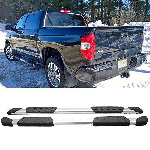 Running Boards Fits 2007-2018 Toyota Tundra Crewmax Cab | Pickup Crew Cab 4Dr Side Step Bar Aluminum by IKON - Toyota Sr5 Tundra