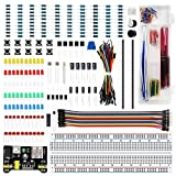 LAFVIN Electronics Fun Kit with 830 tie-points Breadboard,Power Supply,Jumper Wires,Resistors,LED for Arduino UNO R3,Mega2560,STM32,Raspberry Pi