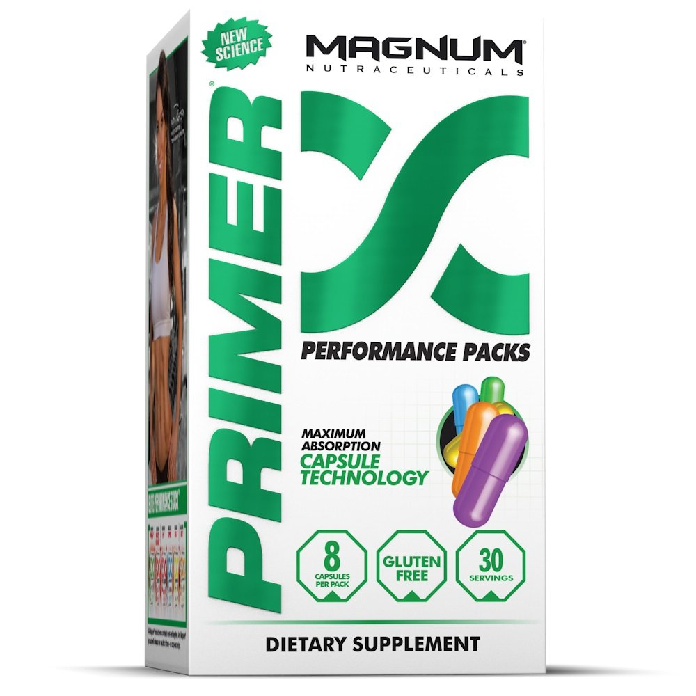 Magnum Nutraceuticals Primer - 30 Packs - Multi-Nutrient Supplement Pack - More Energy - Better Digestion - Improve Recovery - Burn More Fat - Build Muscle