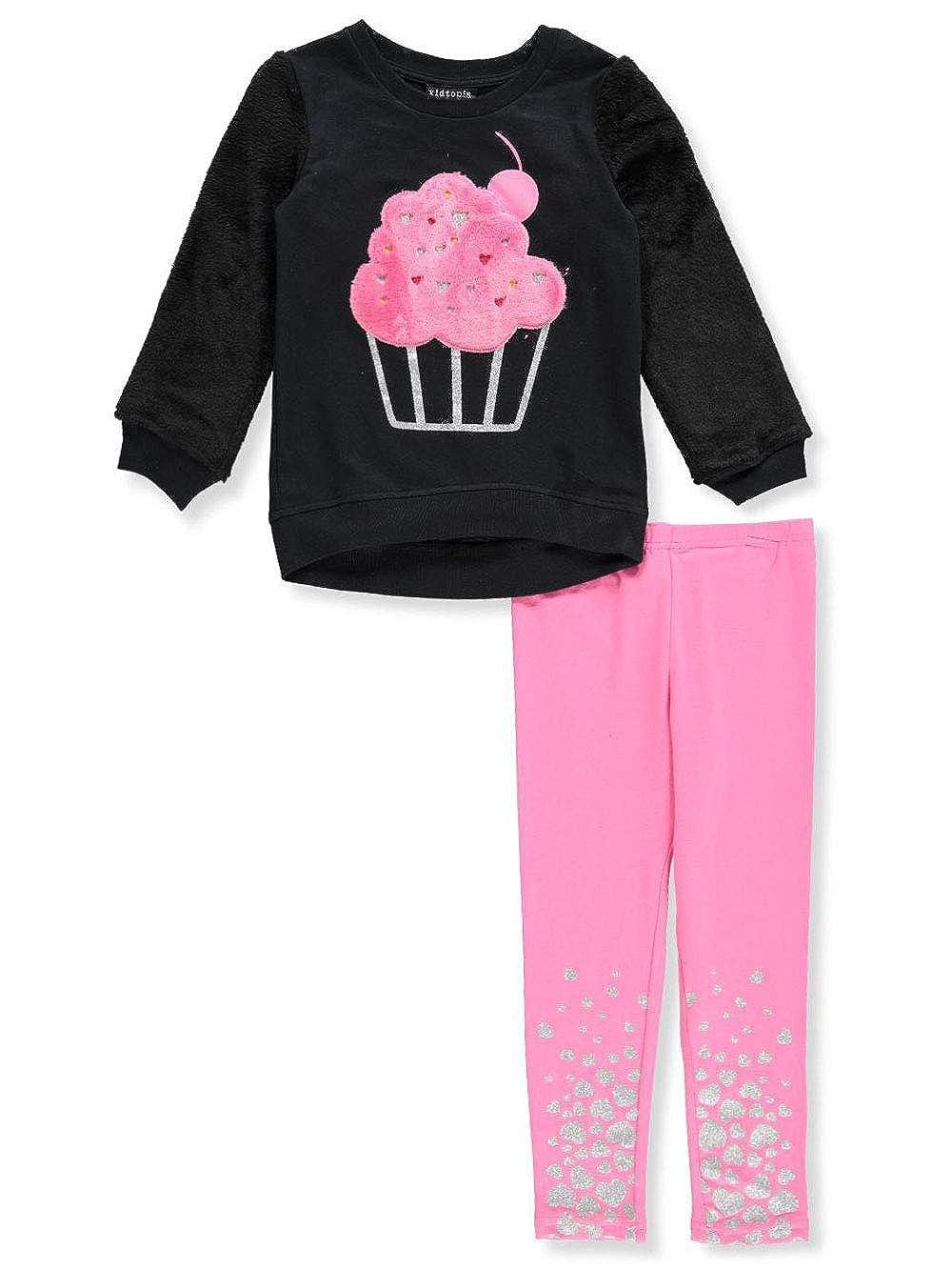 TOPSVI Kidtopia Girls' 2-Piece Leggings Set Outfit