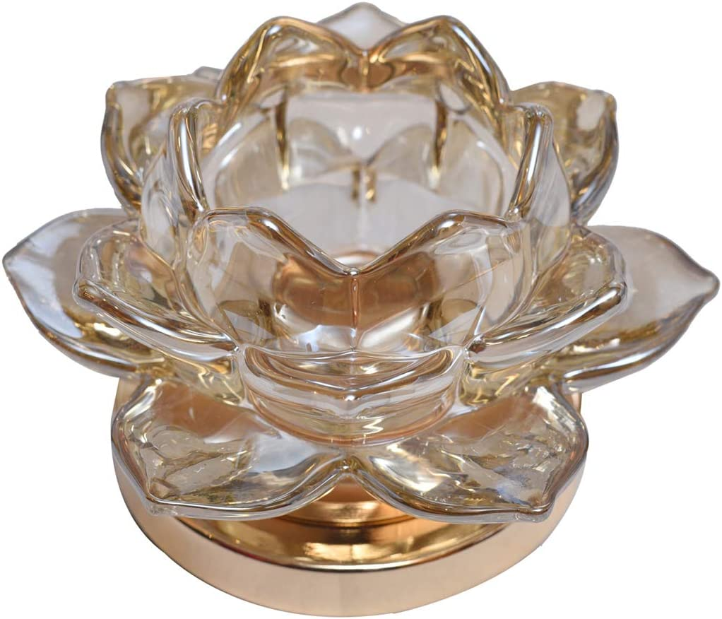Decozen Glass Decorative T Light Candle Holder for Living Room Bed Room Center Table Side Tables Home Decor Accents