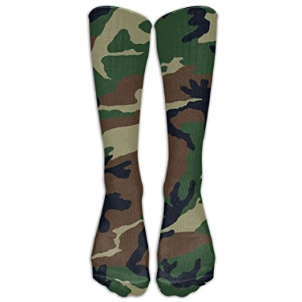 dc3e9ea43df Amazon.com  Men s Women s Knee High Socks Gun Camo Over-The-Calf Socks   Sports   Outdoors