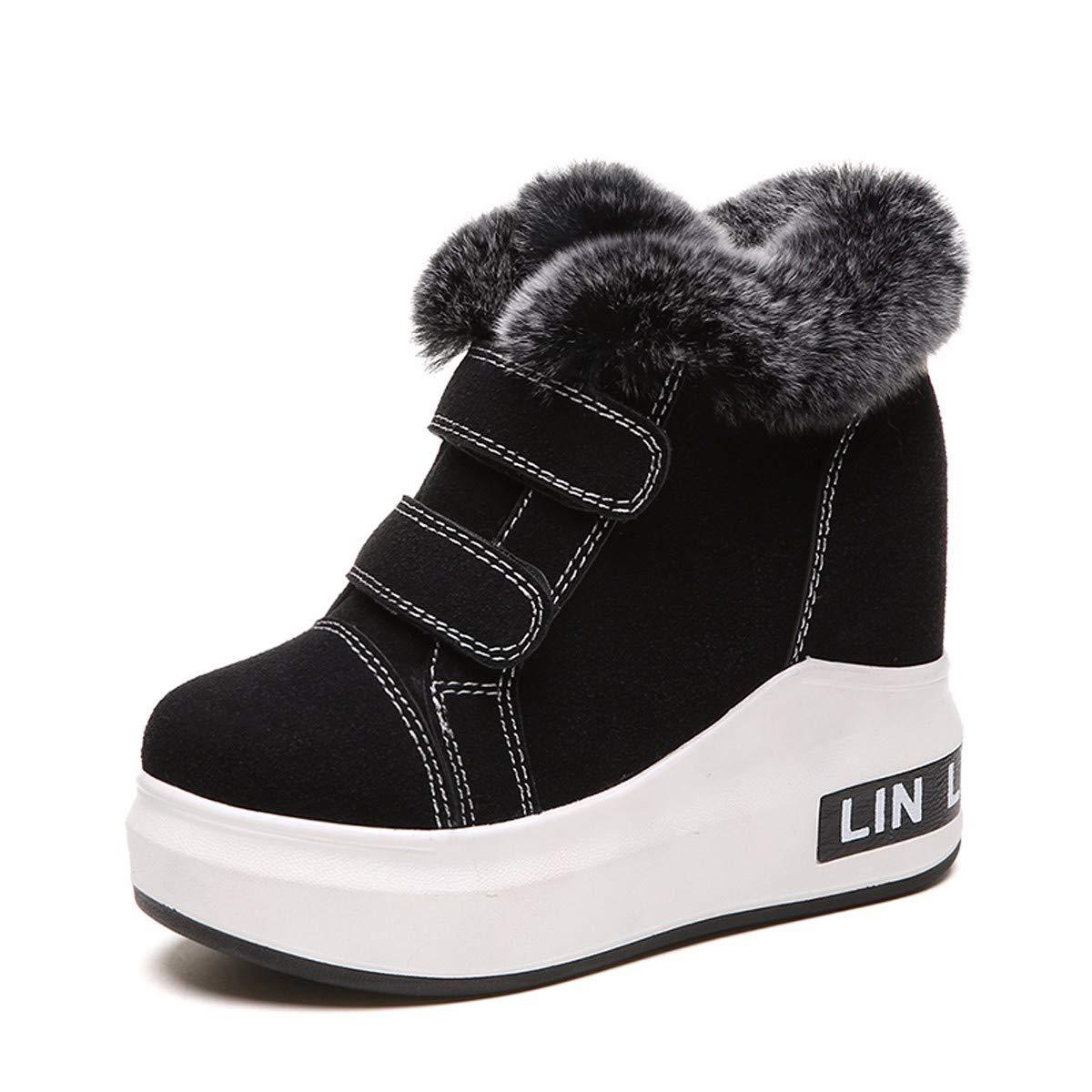 KPHY Damenschuhe Schnee - Winter - Joker Dicke Hintern Hoch Rein Baumwolle Schuhe Kurze Röhren Neigung Und Kurze Stiefel.