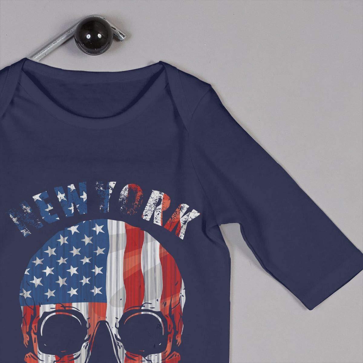AucCen Babys Skull Jumpsuit Bodysuit Clothes 100/% Organic Cotton Long Sleeve One-Piece Coverall