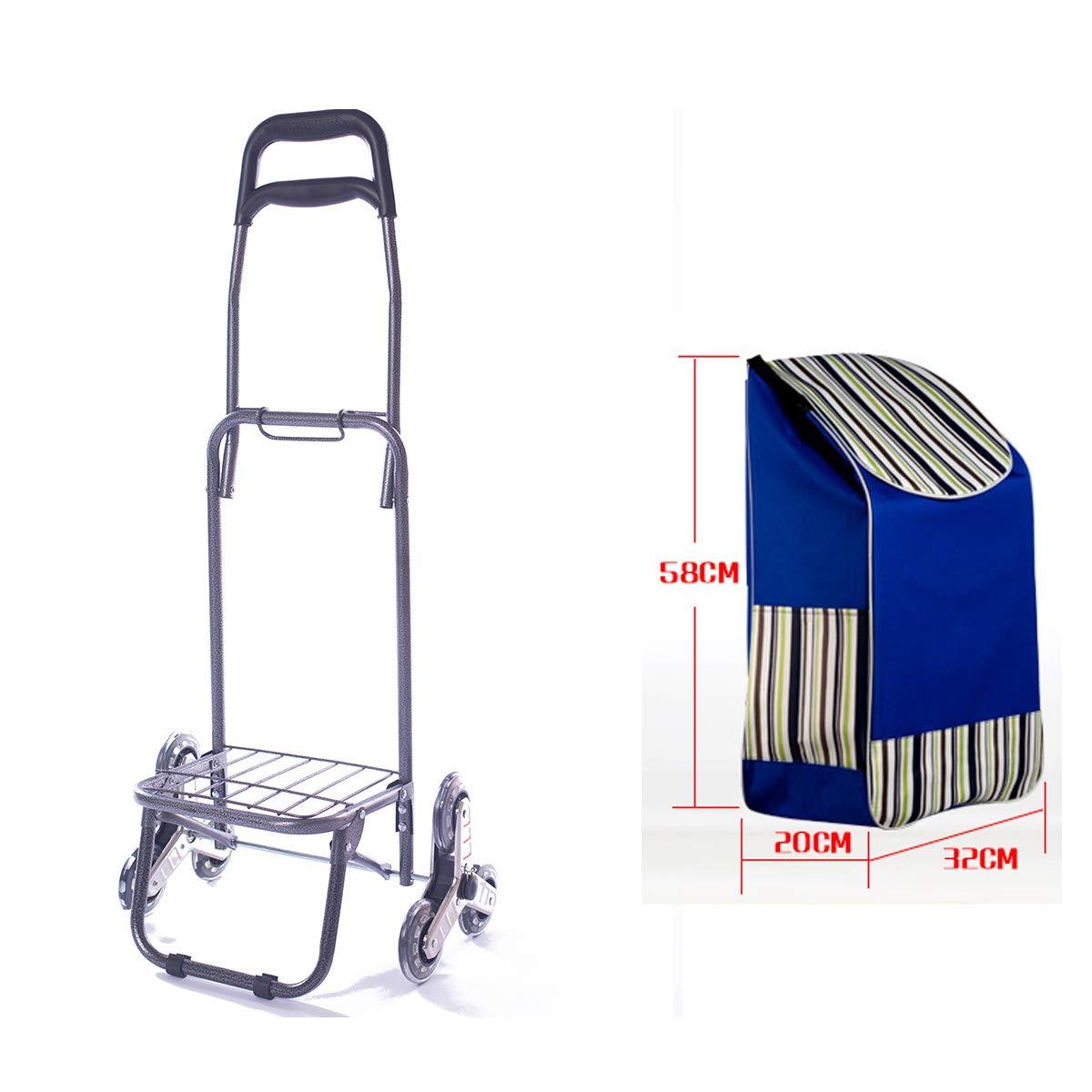 carrito de 3 ruedas etc carrito de escalera plegable para ir de compras picnic f/ácil de escalar almacenamiento en casa Rayas Negras gran capacidad Carrito de la compra plegable