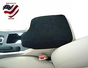 Car Console Covers Plus Made in USA Fleece Center Armrest Console Cover Designed for Subaru Crosstrek Models 2018-2019 Black
