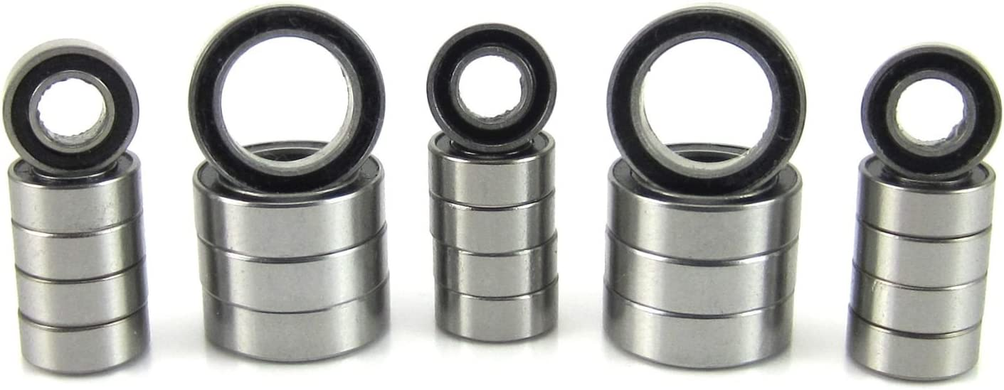 Precision Ball Bearing Kit V2 23 Blue Rubber Seals Traxxas 1//16 E-Revo VXL