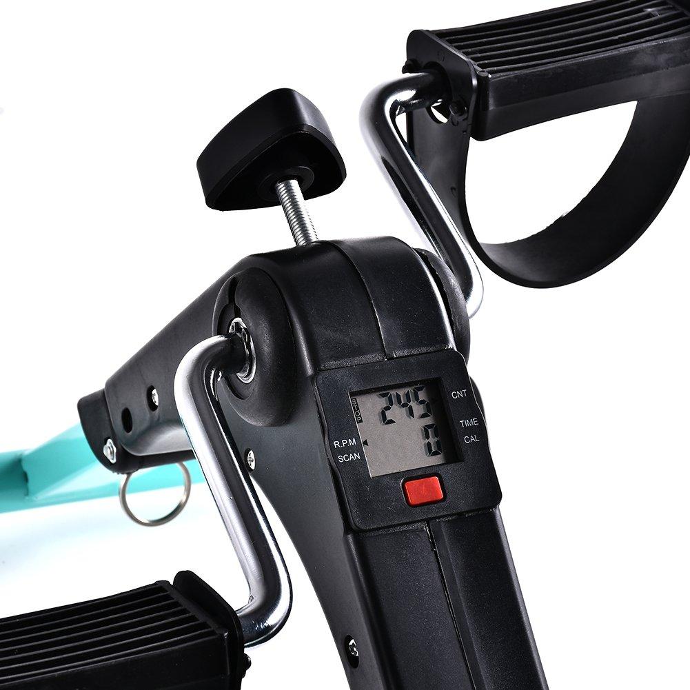 B BAIJIAWEI Portable Pedal Exerciser - Under Desk Exercise Machine - Arm & Leg Exercise Peddler - Folding Low Impact Exercise Bike for Seniors and Elderly by B BAIJIAWEI (Image #3)