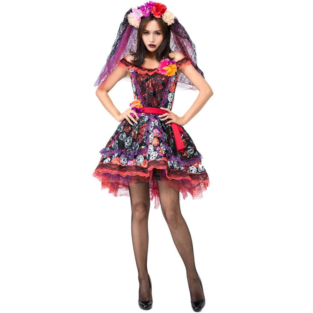 Halloween Print Ghost Bride Dress Ostern Ghost Festival Gorgeous Braut Braut Braut Dress Up,ROT,M 0acf68