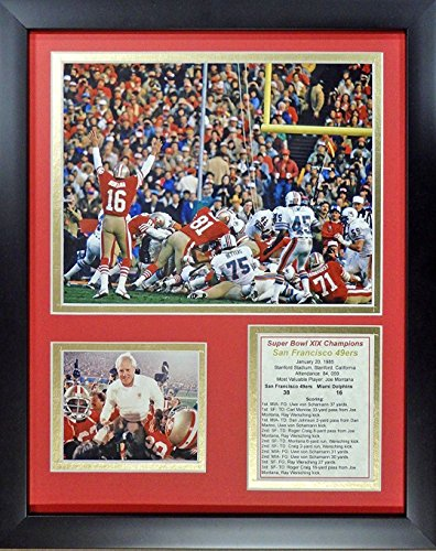 11x14 FRAMED 1984 SAN FRANCISCO 49'ERS 8X10 TEAM PHOTO SUPER BOWL XIX - Sf Outlets