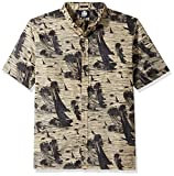 Reyn Spooner Men's Cotton Classic Fit Button Front Hawaiian Shirt, Tan Island Cotton, 3XL