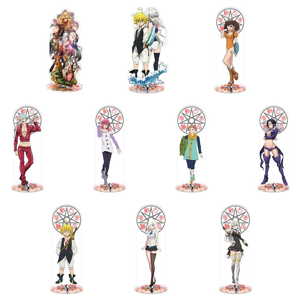 Ban Elizabeth Acryl Figur King Tischplatten Dekoration Geeignet f/ür Anime Lovers 21cm SGOT The Seven Deadly Sins Figur