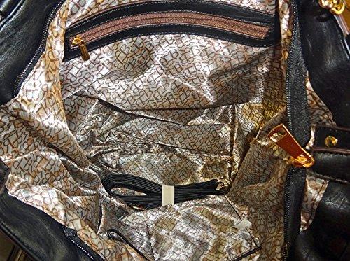 Hobo Strap Tote Black Studded Large Elegant w Rhinestone Ruby Fashions Rzq8AwxX
