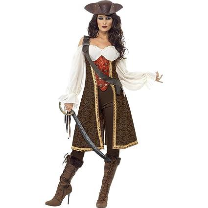 Disfraz de novia pirata corsario traje mujer: Amazon.es ...