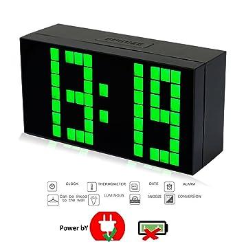 T Tocas(tm)16,5cm Nouveau mode Trois dimension 4 Chiffres Gros LED ...