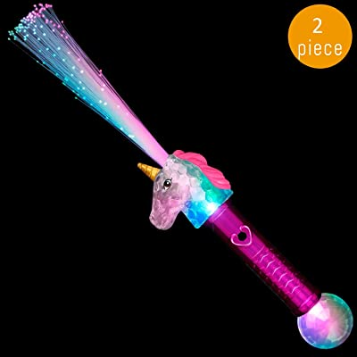 Lumistick LED Magical Light Up Unicorn Toy Wands | Illuminating Wands Thrilling LED Glow Sticks | Glowing Concerts Party Toys for Kids Game: Toys & Games