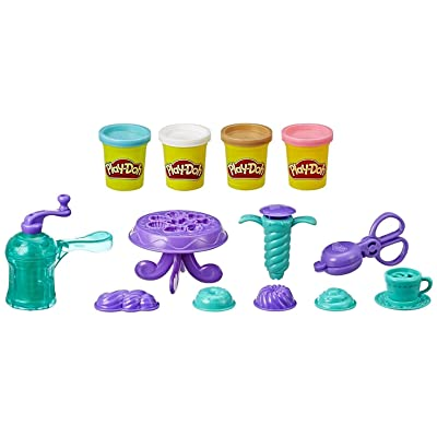 Play-Doh Kitchen Creations Delightful Donuts Set with 4 Colors: Toys & Games