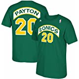 adidas Seattle Super Sonics Gary Payton Throwback Kelly Green T Shirt
