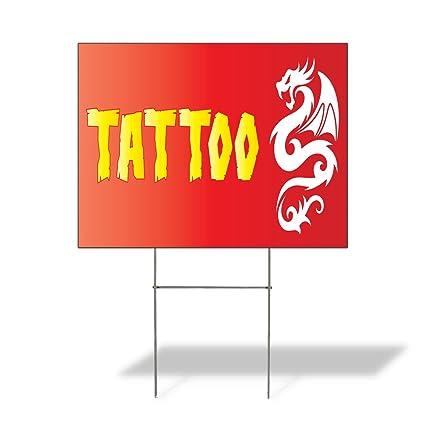 Amazon.com: Plastic Weatherproof Yard Sign Tattoo #1 Style G ...