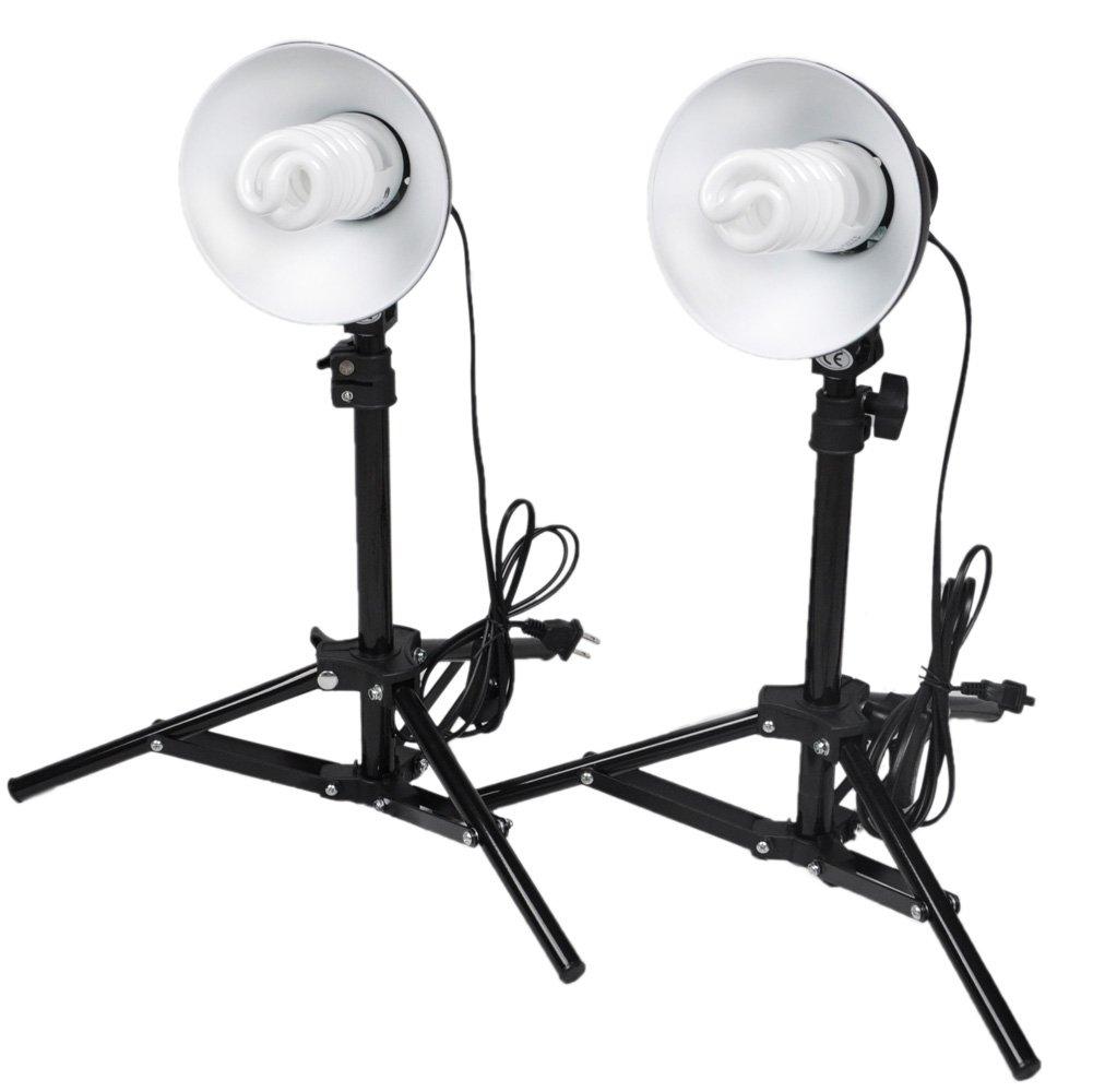 CowboyStudio Photography Table Top Photo Studio Lighting Kit - 2 Light Kit Cowboy Studio 30 Minitablekit